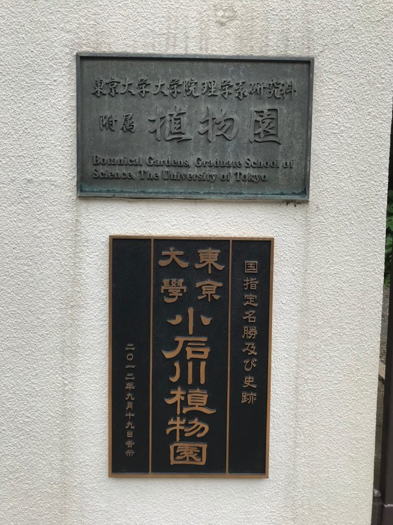 医史跡、医資料館探訪記14 小石川植物園を訪ねて